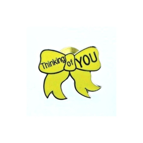"Jewelry - ""Thinking of You"" Yellow Ribbon Support Lapel Pin"